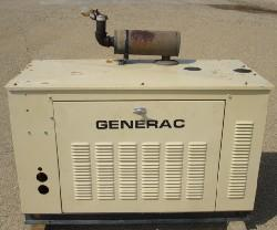 Used 15kW Generac Natural Gas Generator