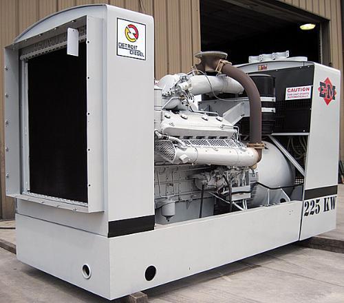 Used 225kw Detroit Diesel Diesel Generator