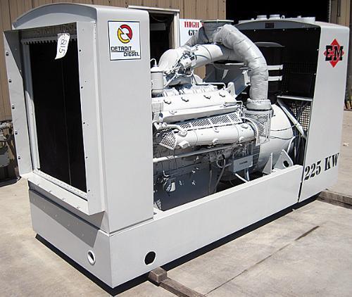 Used 225kw Detroit Diesel Generator